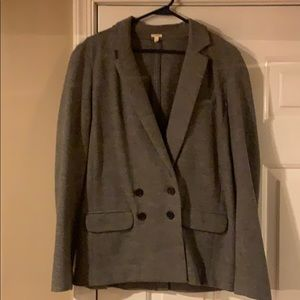 J. Crew gray wool double breasted blazer